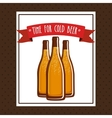 cold beer design vector image vector image