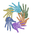 color grunge hand around vector image vector image