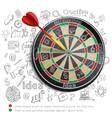 Creative Background With Dartboard vector image vector image
