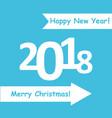 creative happy new year 2018 design flat design vector image vector image