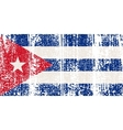 Cuban grunge flag vector image vector image