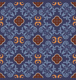 dark blue floor tiles ornament pattern vector image