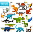 Dinosaur Icons Set vector image vector image