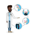 doctor with illness symptom diagnosis prevention vector image