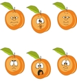 Emotion peach set vector image vector image