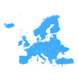 europe simple blue map vector image