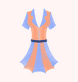 flat shading style icon summer dress vector image vector image