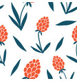 flower simple seamless pattern graphic design vector image vector image