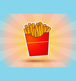 fries potato on abstract background vector image