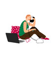 girl talking on phone vector image