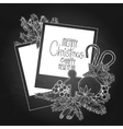 Graphic garland and photo paper vector image vector image