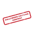 Halloween Costume Contest Text Rubber Stamp vector image