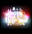 happy new year greeting card with colorful bokeh vector image vector image