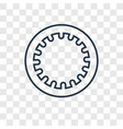 hoop concept linear icon isolated on transparent vector image