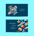 isometric marine logistics or seaport vector image vector image