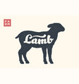 lamb lettering typography vector image
