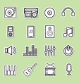 line music icon vector image vector image