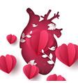 love landscape medical heart vector image vector image