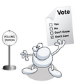 man vote vector image