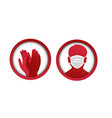 medical masks for face and hand protection vector image