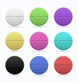 medicinal tablets set of round flat tablets of vector image