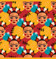 mexican folk seamless pattern vector image