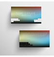 Modern business card template with blurred vector image vector image