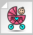 mothers day icons 3 vector image vector image