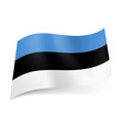 national flag of estonia blue black and white vector image vector image