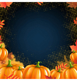 Orange Autumn Pumpkins Frame vector image vector image