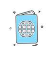 passport icon design vector image vector image
