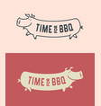 pig silhouette funny long pig cartoon character vector image