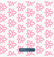 pink flower pattern background vector image vector image
