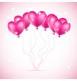 pink hearts ballons vector image vector image