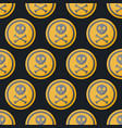 poison sign flat seamless pattern vector image