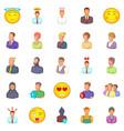 public icons set cartoon style vector image vector image