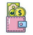 purse icon cartoon style vector image vector image