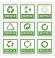 recycle labels and recycling signs set trash vector image vector image