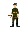russia troop armed forces man with weapon vector image
