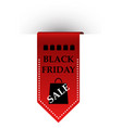 sale sign red ribbon with inscription black vector image
