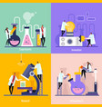 science lab flat design concept vector image vector image