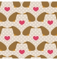 Seamless pattern with cute cartoon kiwi on grey vector image vector image