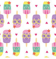 seamless pattern with cute ice lolly vector image vector image