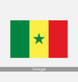 senegal senegalese national country flag banner vector image vector image