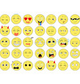 set of funny smiles web icons vector image vector image