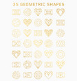 set of geometric icons vector image