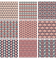 set pattern vector image vector image
