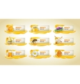 set sweet honeyed banners vector image vector image