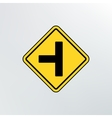 Side Road sign icon vector image vector image