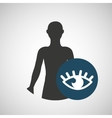 silhouette man health icon optics vector image